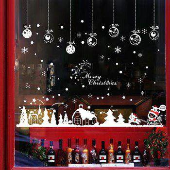 Christmas Snow Hut Glass Window Removable Wall Stickers