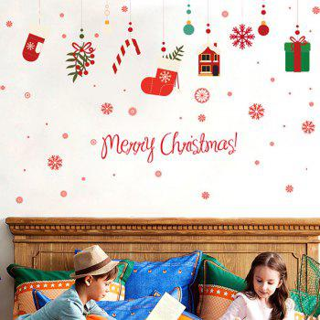 Christmas Gifts Glass Window Removable Wall Stickers