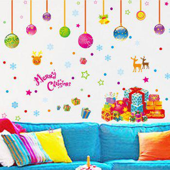 Removable Colorful Merry Christmas Children's Room Wall Stickers