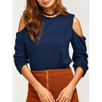 Round Neck Cold Shoulder T Shirt