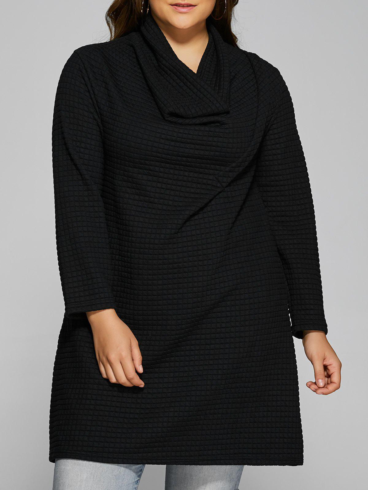 Plus Size Cowl Neck Textured Blouse bar iii black women s size medium m textured embossed cropped top blouse $49