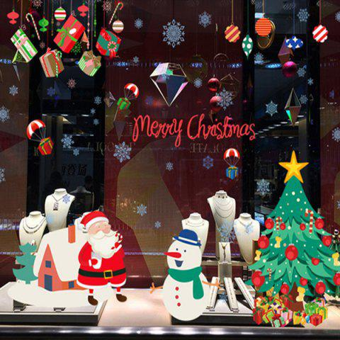 Removable Merry Christmas DIY Window Wall Stickers - COLORFUL