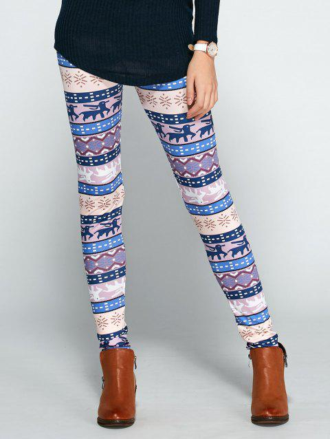 Christmas Ornate Printed Leggings - COLORMIX L