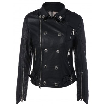 Rivet Short Faux Leather Jacket