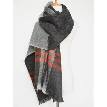 Chic Winter Big Plaid Pattern Tassel Blanket Scarf