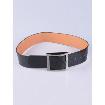 Coat Wear Hollow Square Buckle Wide Belt