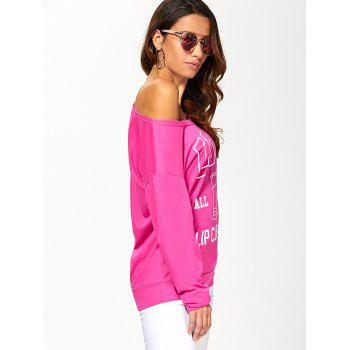 The USA Print Pullover Sweatshirt - ROSE MADDER S