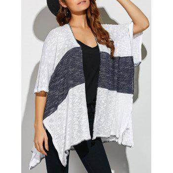 Two Tone Split Loose Cardigan
