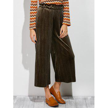Pleated Ankle Wide Leg Palazzo Pants