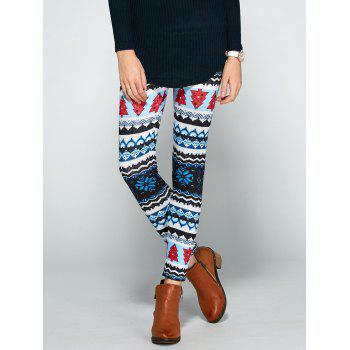Christmas Print Bodycon Leggings