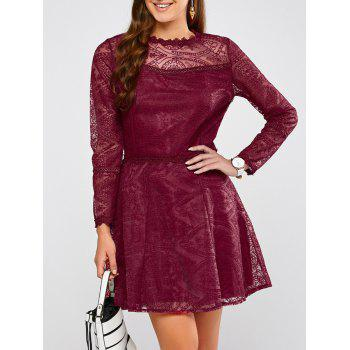 Semi Sheer Mini Lace Dress