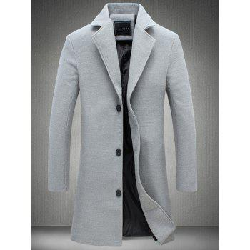 Single Breasted Plus Size Longline Woolen Coat