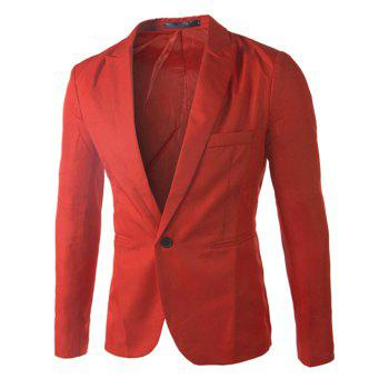 Casual Single Button Collier sur mesure Blazer en couleur solide pour hommes