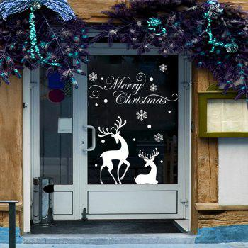 Christmas Reindeer Glass Window Removable Wall Stickers