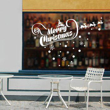 Removable Merry Christmas Banner Window Wall Stickers
