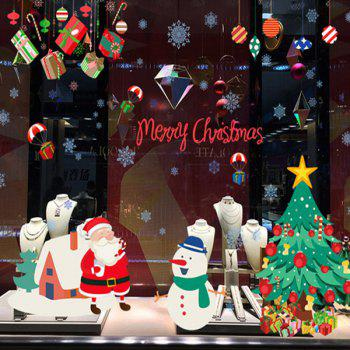 Removable Merry Christmas DIY Window Wall Stickers