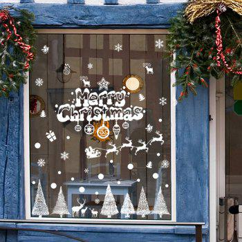 Removable Merry Christmas Tree DIY Window Wall Stickers