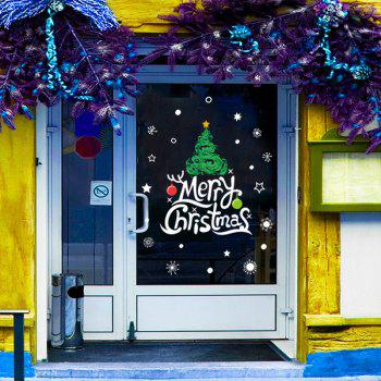 Merry Christmas Banner DIY Window Decor Wall Stickers