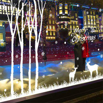 Merry Christmas Deer DIY Window Decor Wall Stickers