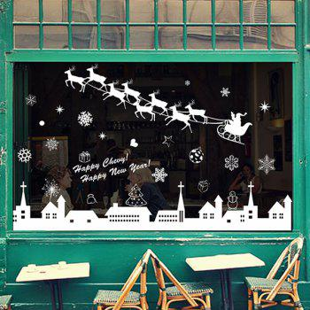 Removable Christmas Deer Showcase Window Wall Stickers