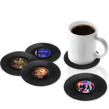 Retro 4 Pcs/ Set CD Record Shapes Cup Mat