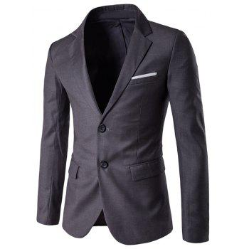 Edging Lapel Single Breasted Blazer