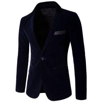 One Button Edging Velvet Blazer