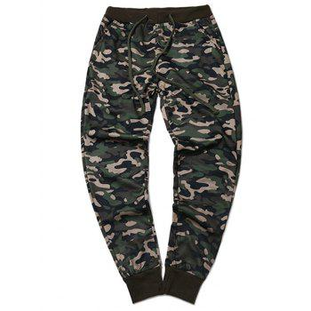 Plus Size Beam Feet Camouflage Jogger Pants