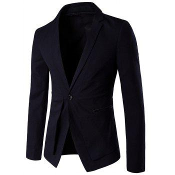 Slim Fit Single Breasted Lapel Spliced Blazer