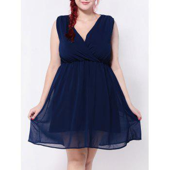 Chiffon Empire Waist Surplice Dress