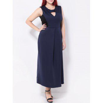 Keyhole Spliced Maxi Dress