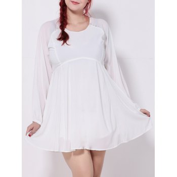 Plus Size Cut Out Chiffon Swing Dress