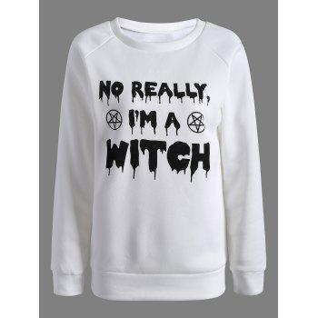 Buy Am Witch Sweatshirt WHITE