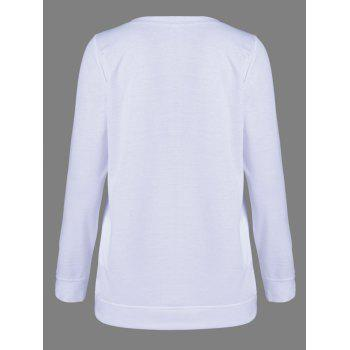 Skull Long Sleeve T-Shirt - WHITE WHITE