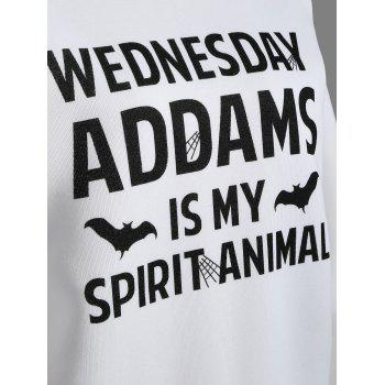 Wednesday  Addams Letter Sweatshirt - S S