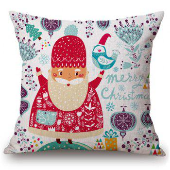 Merry Cartoon Santa Claus Soft Pillow Case