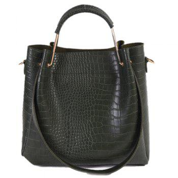 Metal Embossed Dark Colour Tote Bag