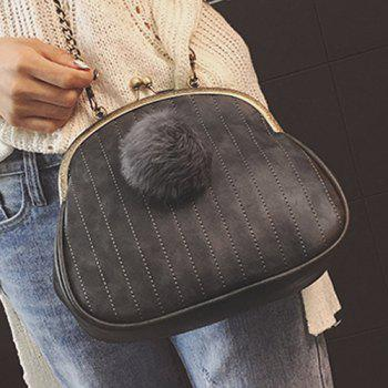 Stitching Faux Fur Crossbody Bag