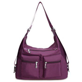 Zippers Nylon Pockets Shoulder Bag
