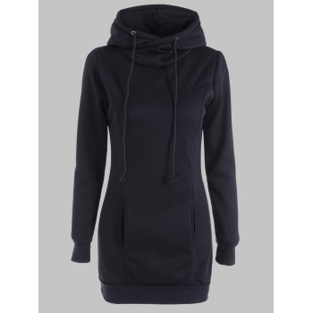 Slimming Pullover Pockets Design Hoodie