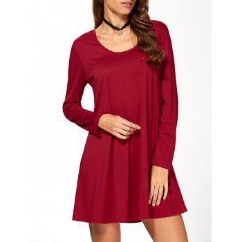 Fit and Flare Long Sleeve Mini Dress
