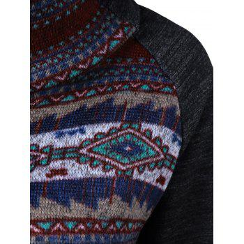Kangaroo Pocket Print Trim Sweatshirt - XL XL