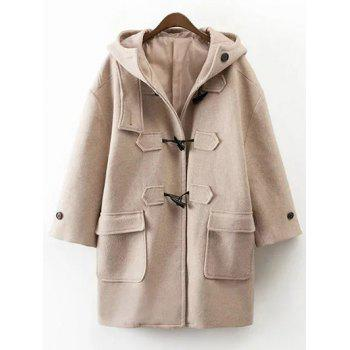 Hooded Duffel Walker Coat With Pockets