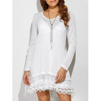 Layered Lace Trim Dress