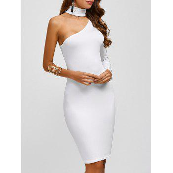 Chocker Tight One Shoulder Evening Occasion Dress