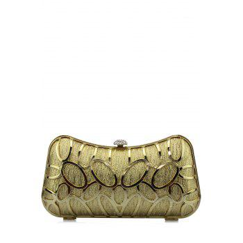 Hollow Out Metal Trimmed Evening Bag