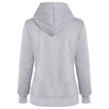 Park Letter Fleece Hoodie - LIGHT GRAY L