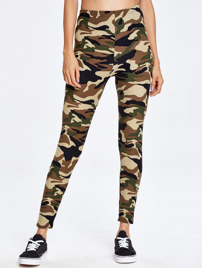 Military Camo Exercise PantsWomen<br><br><br>Size: ONE SIZE<br>Color: CAMOUFLAGE