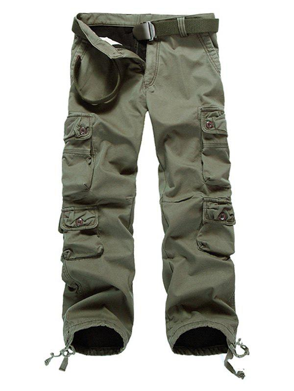 Drawstring Cuff Multi Pockets Flocking Cargo Pants flocking for multi agent dynamical systems