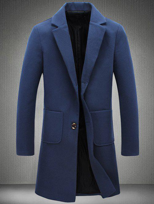 Back Vent Notch Lapel Patch Pocket Woolen Coat свитшот print bar биатлон мишень